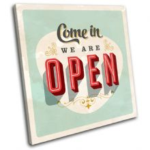 Vintage Sign Were open Typography - 13-0595(00B)-SG11-LO